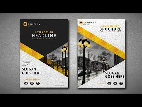Illustrator CC Tutorial | Graphic Design | Brochure Design