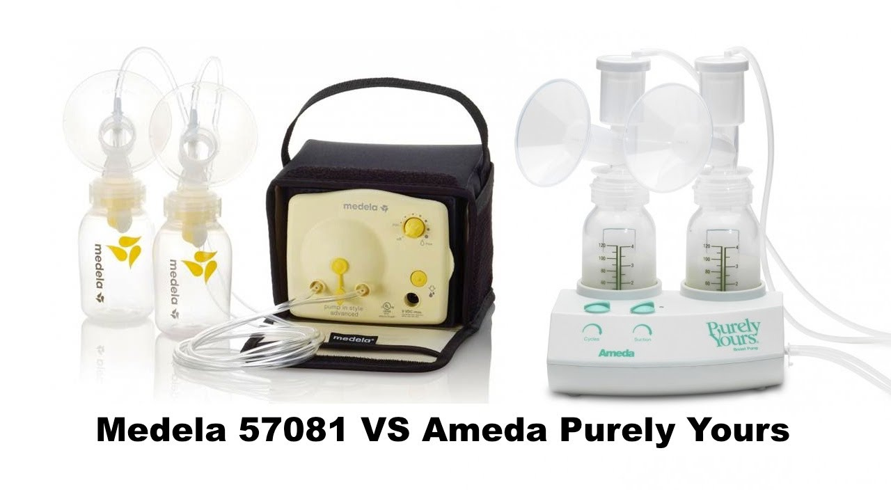 Comparing Medela 57081 To Ameda Purely Yours Youtube