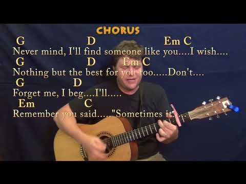 Someone Like You (Adele) Strum Guitar Cover Lesson with Chords/Lyrics - Capo 2nd