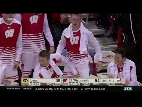 Iowa at Wisconsin - Men's Basketball Highlights