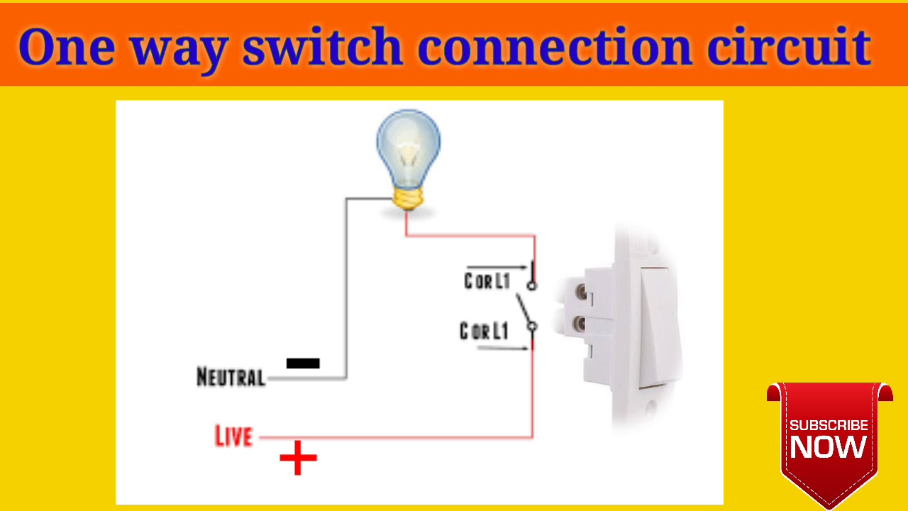 one way switch connection in telugu one switch one bulb connection one way switch circuit connection [ 1280 x 720 Pixel ]
