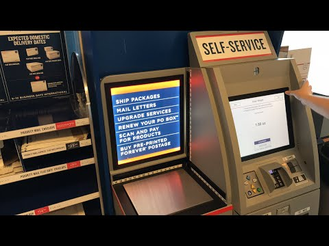 Self Service Usps Kiosk Shipping After Hours Through Usps Postal Service Easier Than Ever Youtube