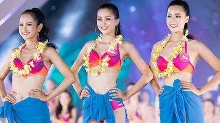 Đông Nhi KHOE CHÂN NUỘT NÀ không thua kém Top 43 Hoa hậu Việt Nam trong phần đồng diễn bikini