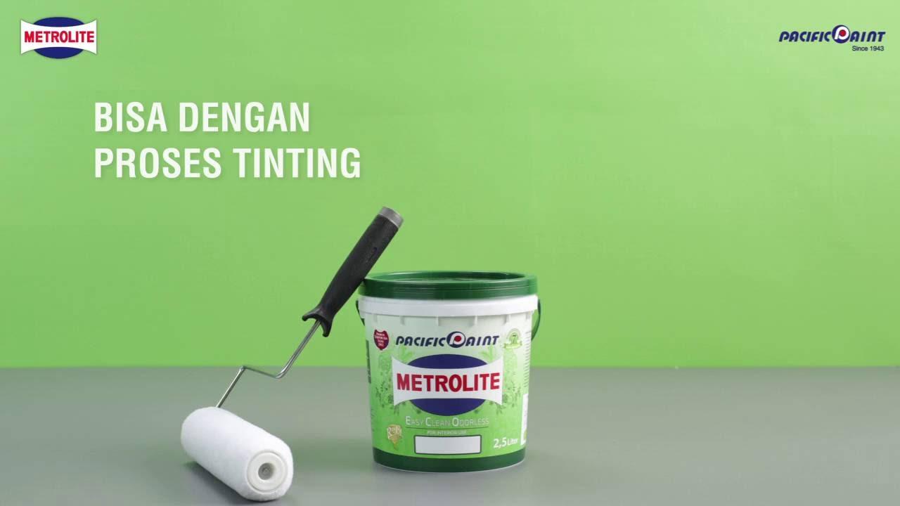 Metrolite Easy Clean Odorless Pacific Paint Indonesia Youtube Warna cat tembok metrolite