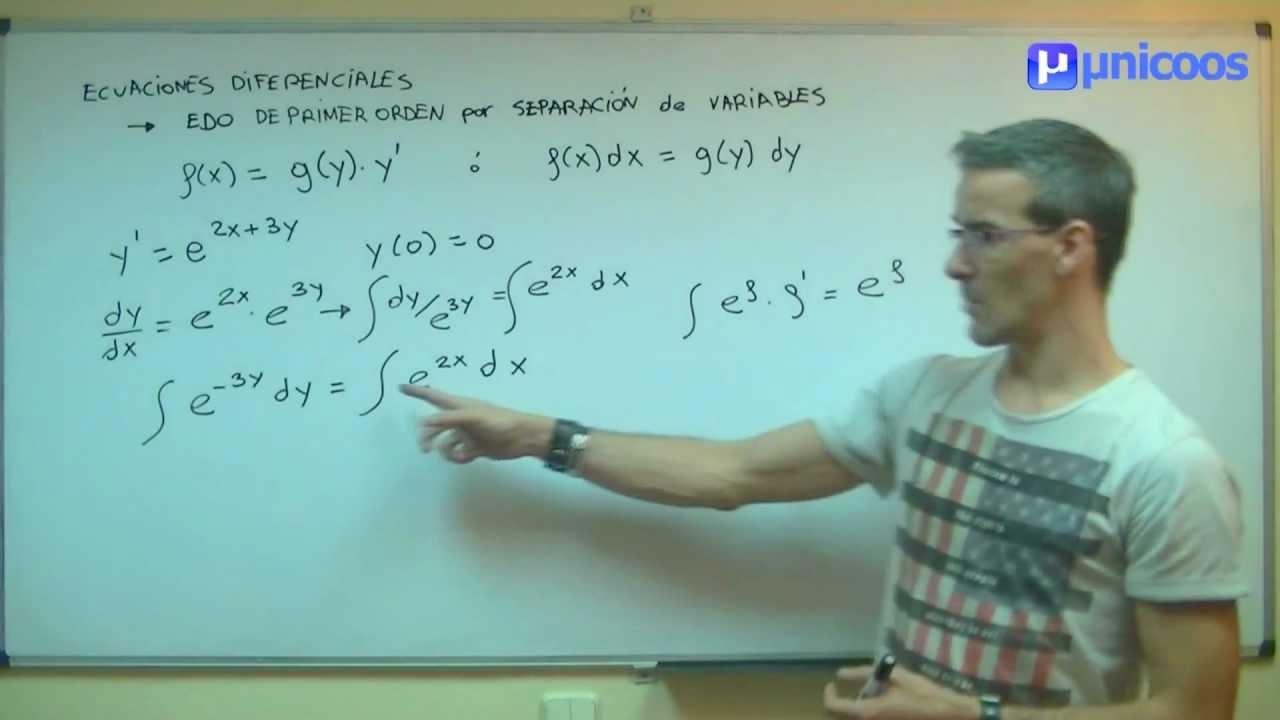 EDO 15bis Ecuacion Diferencial de primer orden UNIVERSIDAD unicoos