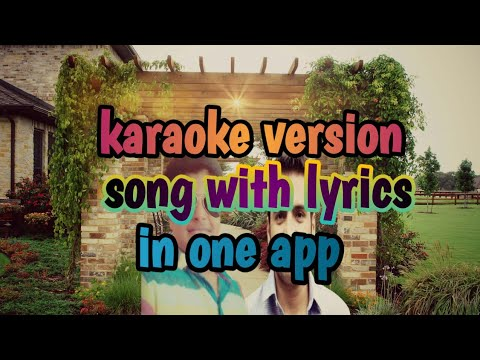 How to sing karaoke version song with lyrics in one app.