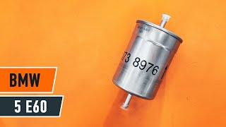 Cum se inlocuiesc filtru de combustibil pe BMW 5 E60 TUTORIAL | AUTODOC