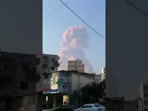 انفجار ضخم قرب منزل رئيس الحكومة اللبناني السابق #سعد_الحريري وسط بيروت