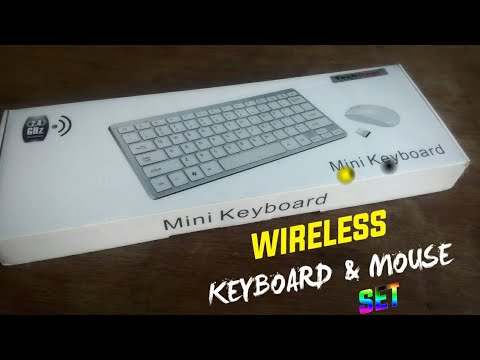 Wireless Keyboard And Mouse Set || Unboxing || Handson || Tech Gear Mini Wireless Keyboard And Mouse