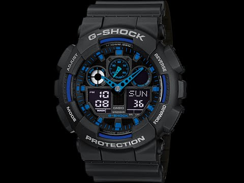 Настройка часов Casio G shock GA - 100 [5081]
