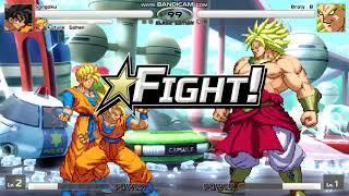 Goku and Future Gohan vs Broly (Boss mode) Mugen