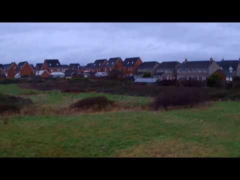 Drone Flight in Casnewydd: Hubsan H501s - on a very windy day