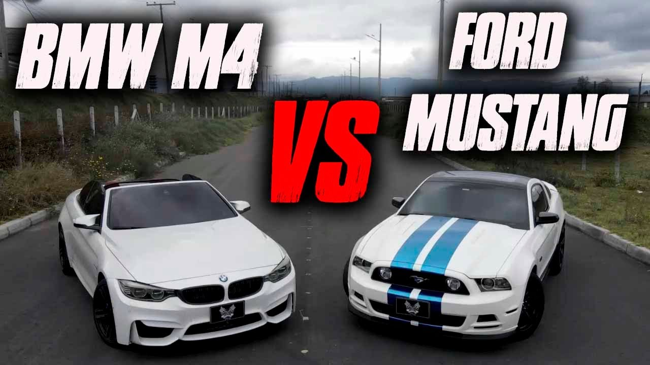 BMW M4 VS FORD MUSTANG GT Que Chimba de pique!! 🔥 🔥