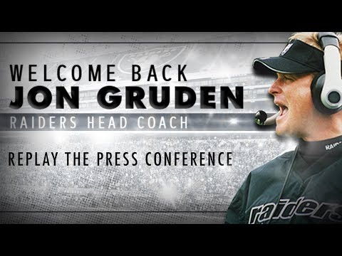 Head Coach Jon Gruden Introductory Press Conference