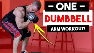 10 Min ONE Dumbbell Only At Home Arm Workout (Workouts With ONE Dumbbell)   Biceps & Triceps Wor