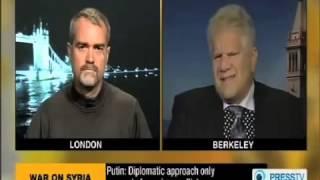 Press TV   The Debate Topic Syria) Ken O'Keefe vs  Lee Kaplan   October 23, 2013 (LD)
