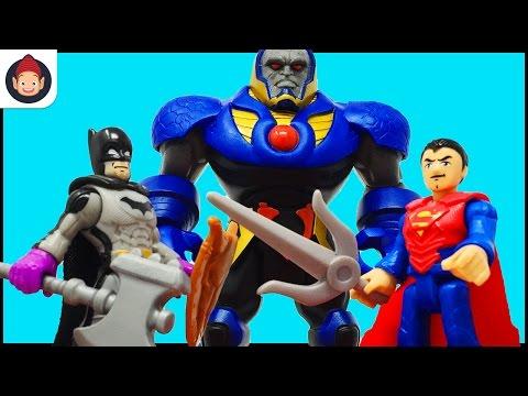 Imaginext Toys Batman Superman Wonder Woman & Justice League Battle in Darkseid Battle Arena