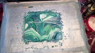 (046)  Dirty Cup Pour Acrylic Pouring