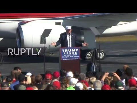 LIVE: Donald and Melania Trump rally in Wilmington, North Carolina