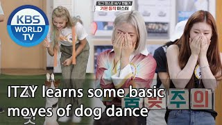 ITZY learns some basic moves of dog dance (Dogs are incredible) | KBS WORLD TV 200909