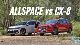 Family car comparison review: Volkswagen Tiguan Allspace vs. Mazda CX-8