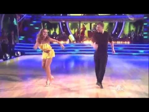 Karina Smirnoff & Sean Avery dancing Salsa on DWTS 3 24 14