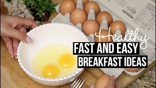 FAST AND EASY HEALTHY BREAKFAST IDEAS  TUTORIAL