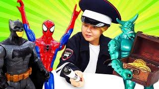Новые игры - Человек Паук и Бэтмен: Кто поможет супергероям? - Смешные видео для мальчиков