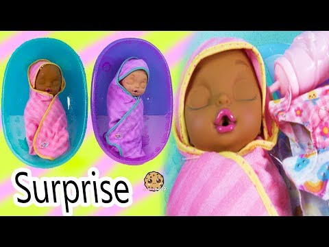 Eyes + Hair Change Big Newborn Twin Sisters Color Changing Surprise - Video