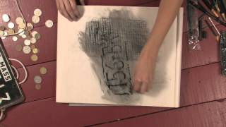 Drawing with charcoal - How to make rubbings