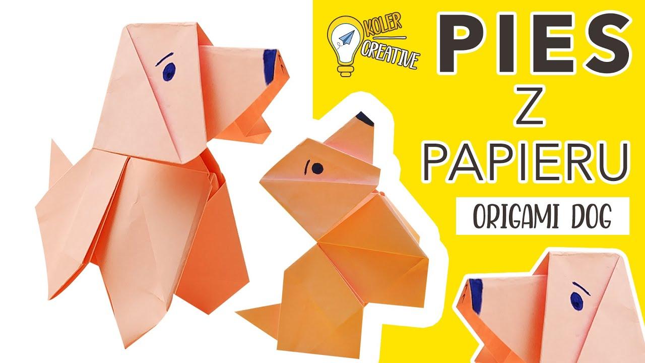 Pies Origami Paper Origami Dog Piesek Z Papieru How To Make Paper Dog Easy Jak Zrobić Psa Youtube