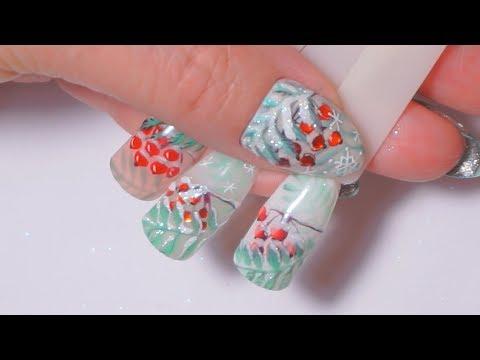 Фото дизайн ногтей рябина