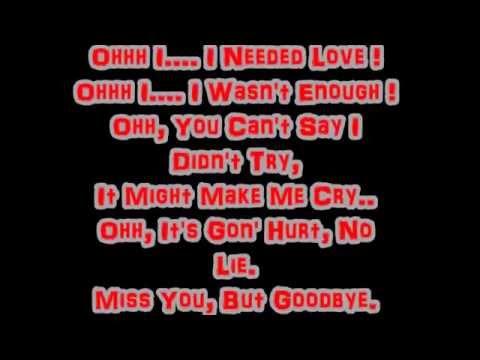 Miss you goodbye lyrics