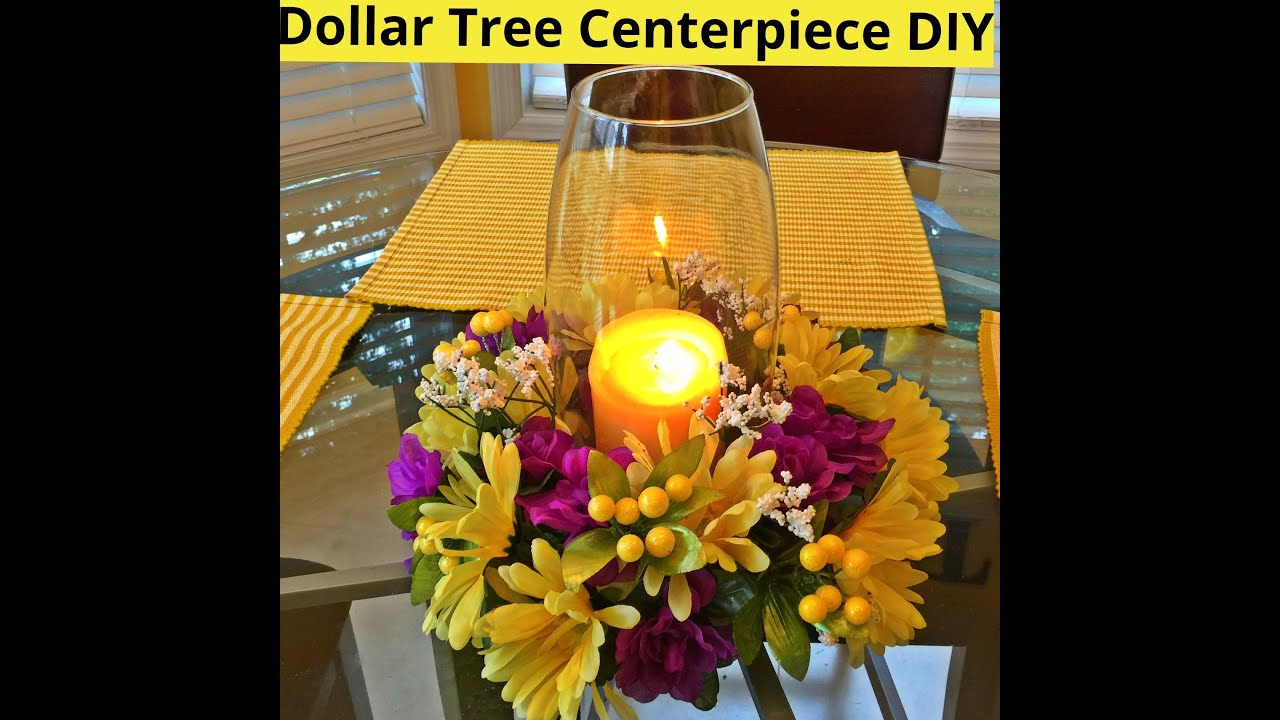 Dollar Tree Centerpiece DIY   YouTube