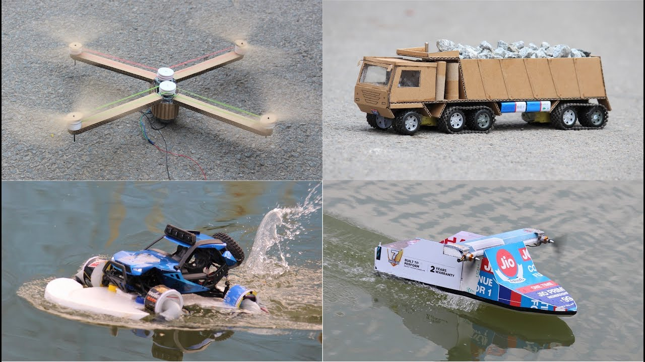 4 amazing things you can do at home – 4 Amazing RC DIY toys