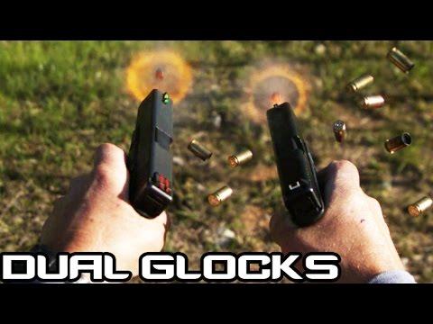 DUAL GLOCK 17 RAPID FIRE 60 ROUNDS IN 5 SECONDS! 660RPM | Jerry Miculek (4K)