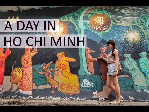 A Day in Ho Chi Minh // Must Visit! Art Street + Spa + Water Puppet Show (字幕付き)