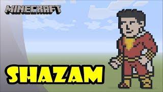 Minecraft: Pixel Art Tutorial and Showcase: Shazam (Shazam!)