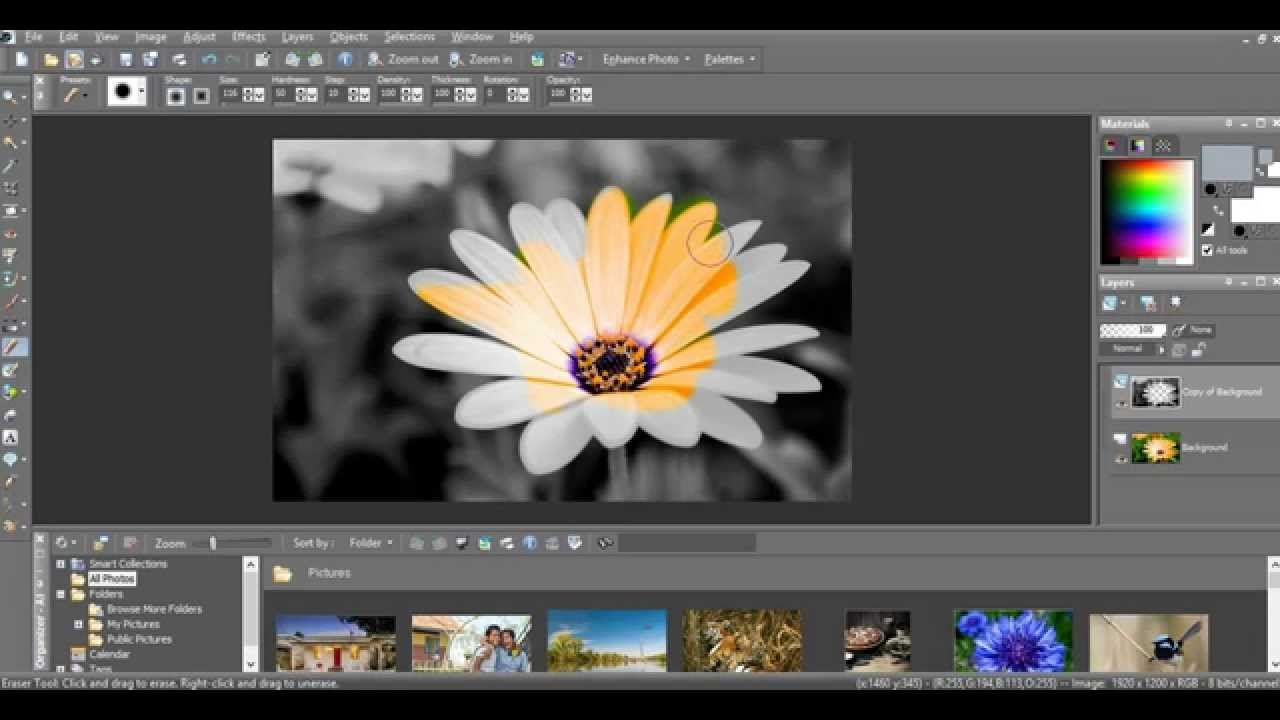 Make A Picture Black White With Some Colour Paint Shop Pro Youtube