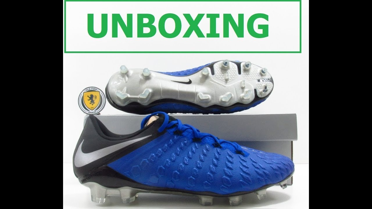new product 4bb73 646b3 UNBOXING NIKE HYPERVENOM III ELITE FG RACER BLUE FOOTBALL BOOTS