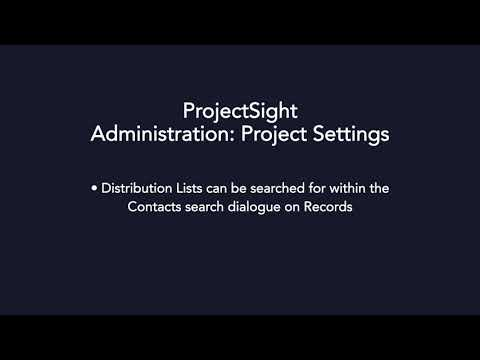 ProjectSight - Project Settings