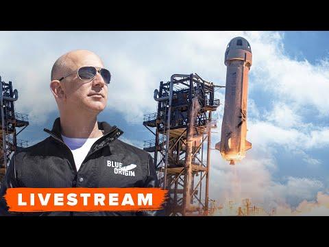 WATCH: Blue Origin launch with Jeff Bezos Onboard! -- Live