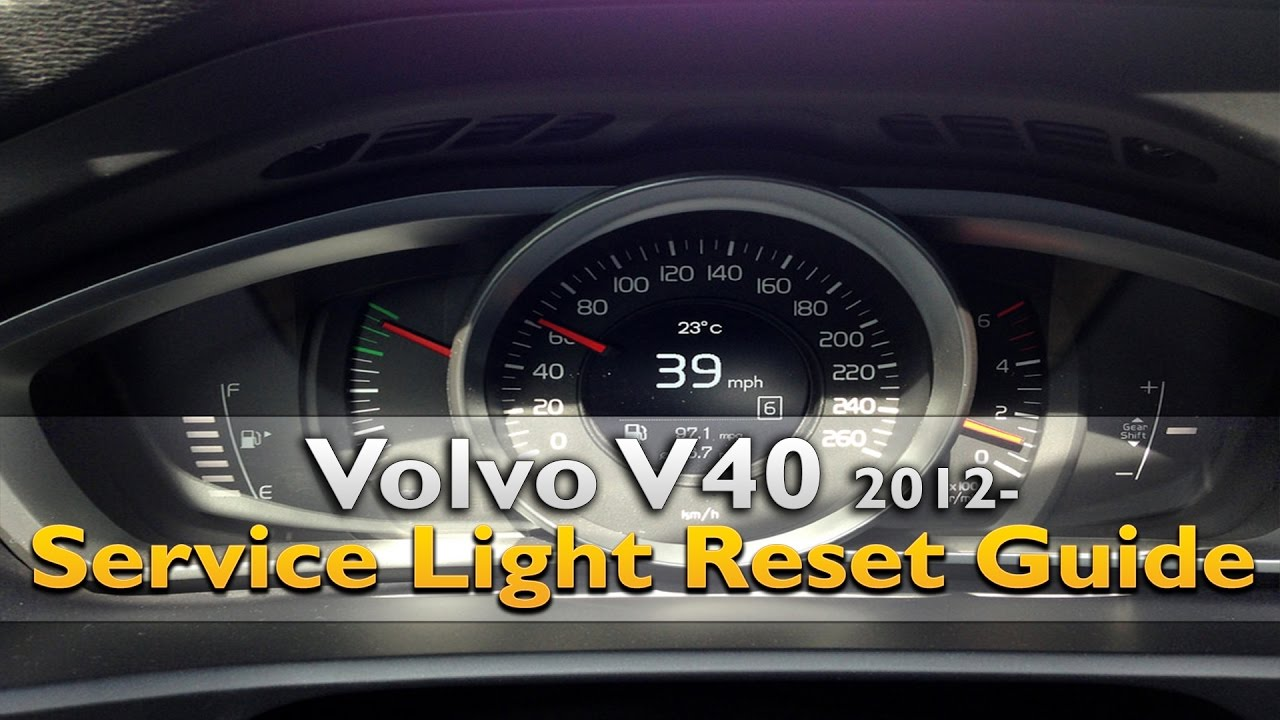How To Reset Service Reminder Light on Volvo V40 (2012-2019)