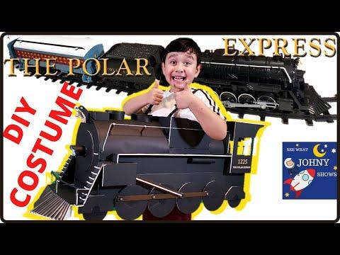 Johny Shows DIY Polar Express Train Costume From Lionel Polar Express Toy Train