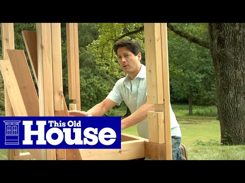 How to Build an Arbor Bench - This Old House - YouTube