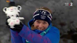 JO 2018 - BIATHLON FEMMES : Anaïs Bescond sur la troisième marche du podium