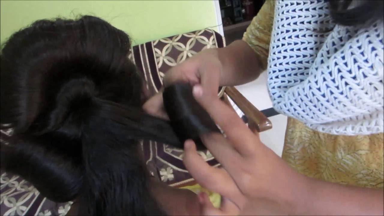 Woman Hair Style: Roll Ambada | महिला केशभूषा : रोल अंबाडा - YouTube