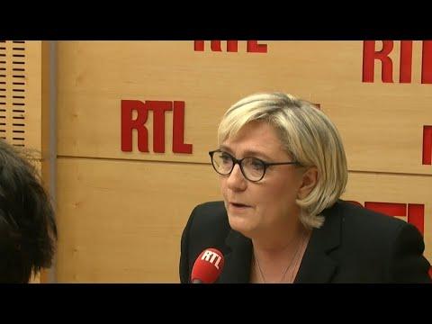 Marine Le Pen est l'invitée de RTL