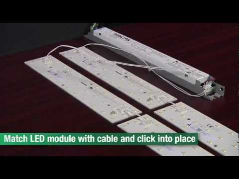 how to use philips fortimo led line and led strip in your led fixture youtube. Black Bedroom Furniture Sets. Home Design Ideas