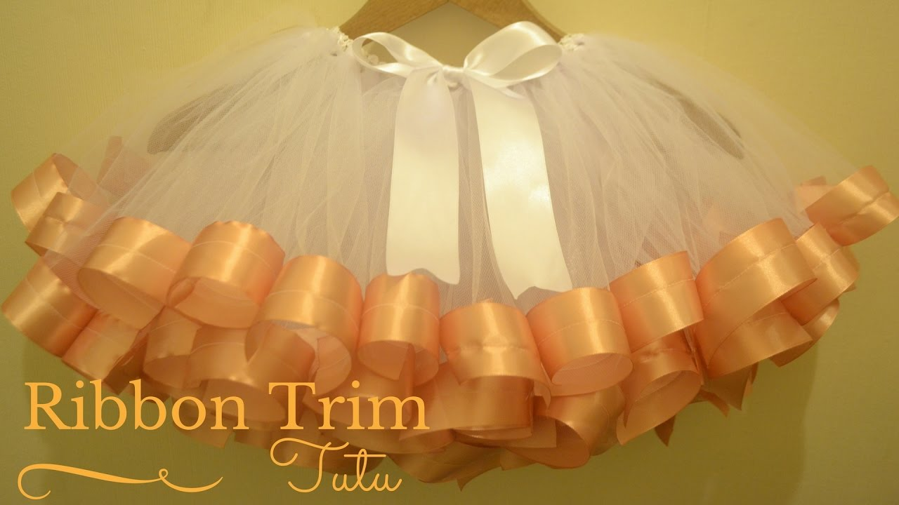 ed6ae10b8d How to Make Ribbon Trimmed Tutu Skirt: DIY Tutu Skirt - YouTube